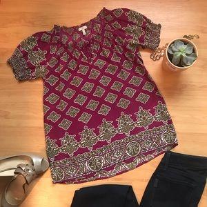 Joie silk short sleeved blouse